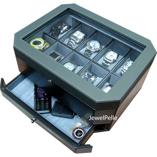 men watch box leather watch box for men from jewelpelle